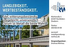 Schlosserei Weilnau - Langlebigkeit und Wertbeständigkeit - Darum ist Metall die beste Wahl