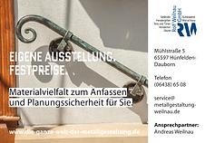 Die Schlosserei Weilnau ist die einzige in der ganzen Region mit großer eigener Ausstellungsfläche