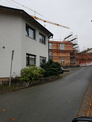 Baustelle des Projektes Inklusionshaus Dorfmitte
