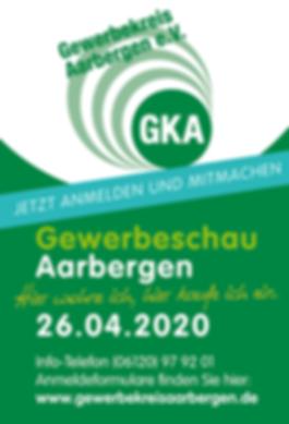 Vorankündigung der Gewerbeschau in Aarbergen am 26.04.2020