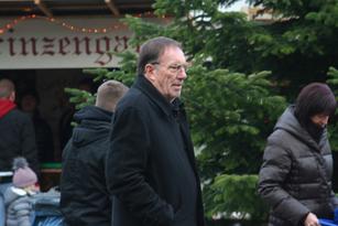 Wolfgang Erk auf dem Weg zur Eröffnung des Christkindlmarktes 2018