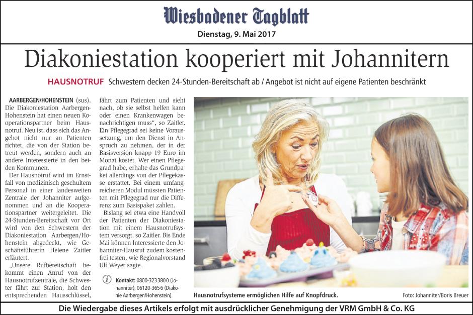Krankenpflegestation Aarbergen-Hohenstein kooperiert mit Johannitern beim Hausnotruf