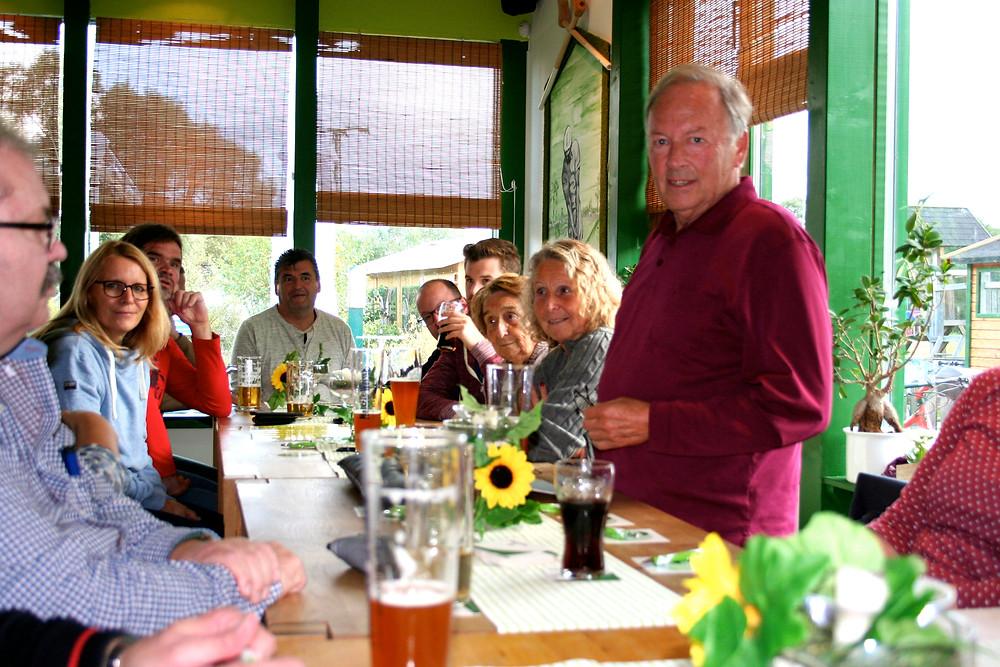 Harald Diefenbach, Schriftführer des Gewerbekreises Aarbergen e.V. bei seiner Ansprache.