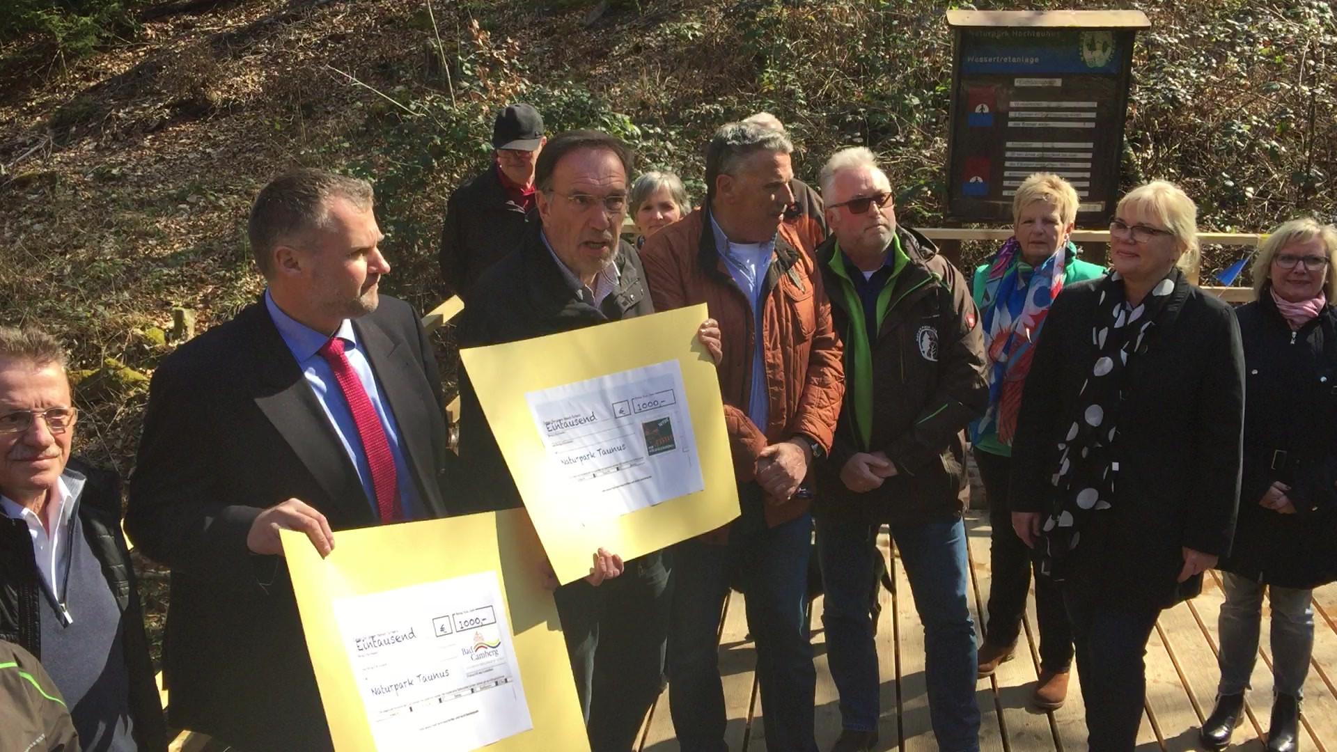 Eröffnung Wassertretanlage Eichbornsbach