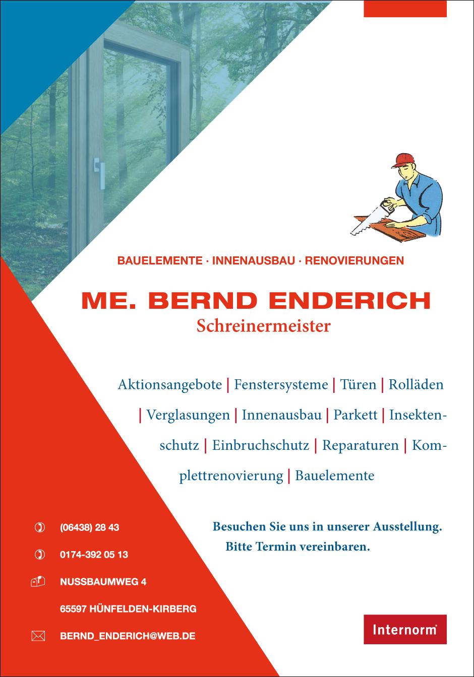Schneidermeister Bernd Enderich