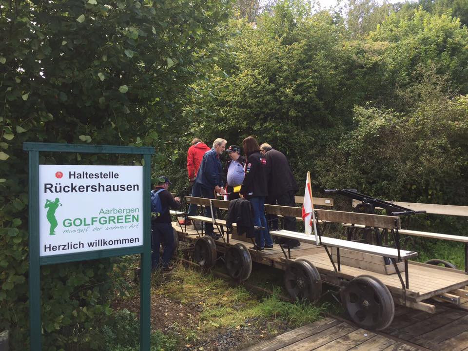 Golfgreen Aarbergen als Start- und Endpunkt unserer Draisinenfahrt.