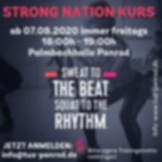 Flyer Strong Nations Sommer 2020 Quadrat