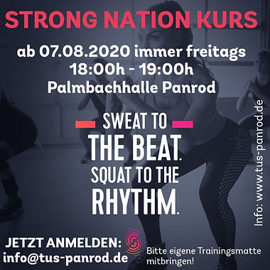 Flyer Strong Nations Sommer 2020 Quadrat