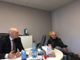 Pressekonferenz WfBC Bad Camberg im Möbelhaus Urban
