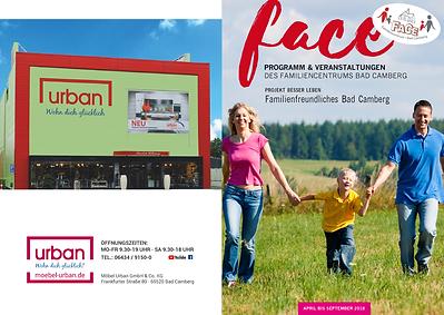 Titelseite und hintere Umschlagseite der Ausgabe 01-2018 der Face-Auszeithefte, die seit 2018 bei Peteratzinger-Publishing erscheinen
