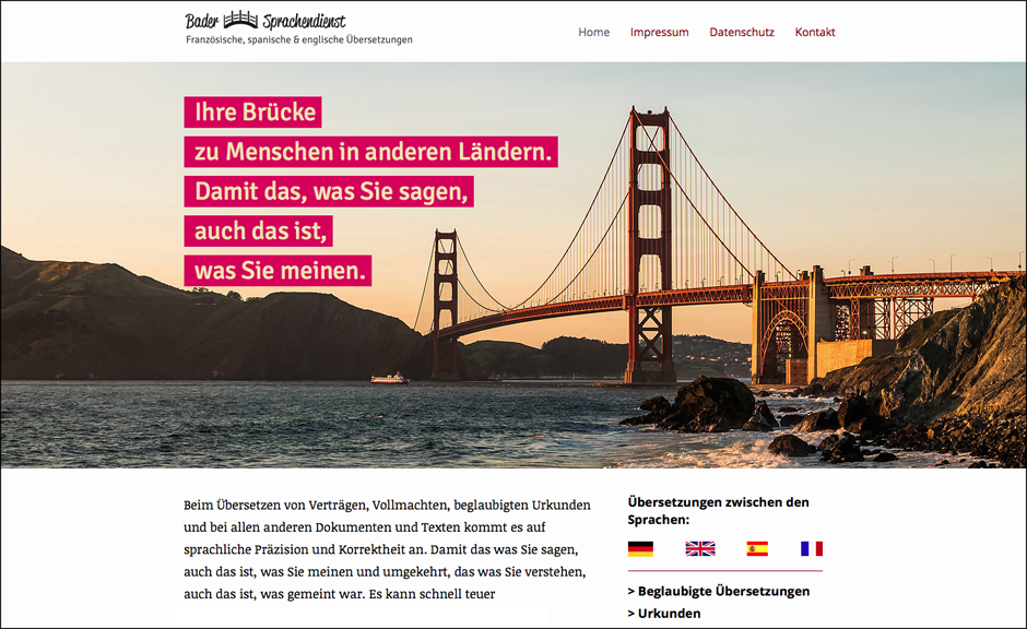 Sprachendienst Gudrun Bader