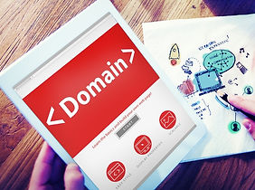 Digital Online Domain Internet Web Hosting Konzept