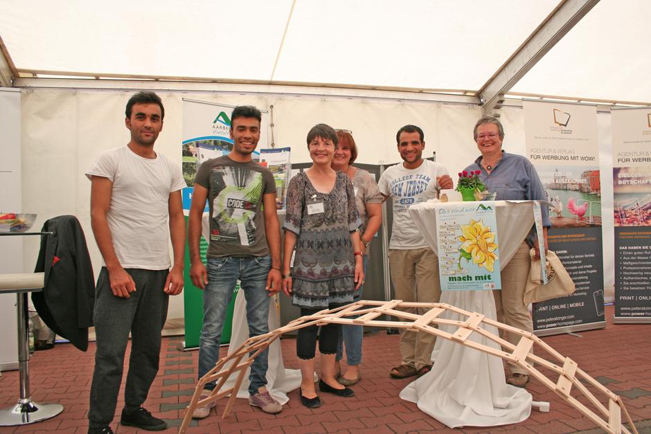 Brücken bauen in Aarbergen. Gemeinde Aarbergen präsentiert sich mit einem engagierten Team auf unserer Gewerbeschau.