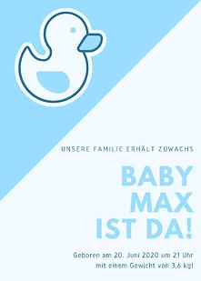 Blau Baby Junge Geburt Bekanntgabe.png