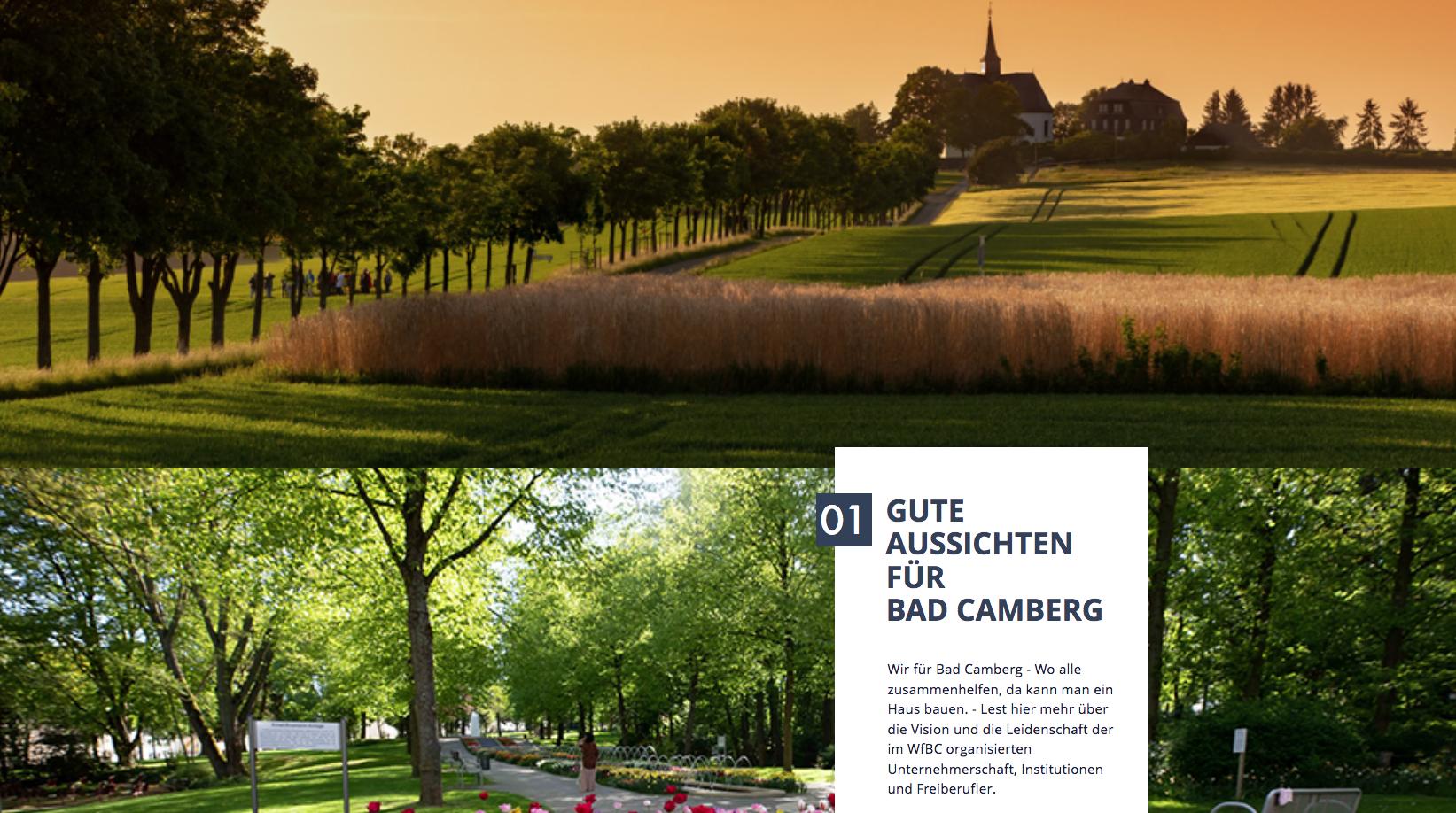 Powerhomepage für Wir für Bad Camberg e.V.
