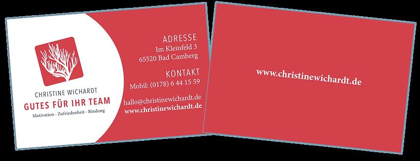 Visitenkarten Christine Wichardt Gutes T