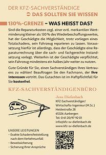 Informative Kampagne für das KFZ-Sachverständigenbüro Diefenbach in Aarbergen-Michelbach