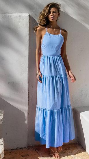 REMY Maxi Gypsy Dress- Light Blue