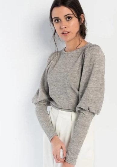 ADELIE Puff Sleeve Sweater