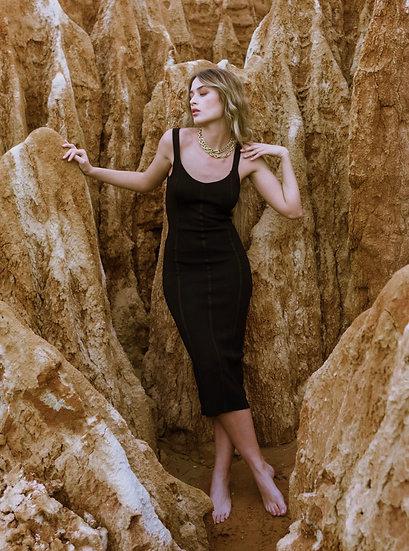 HERVÉ- Bodycon Dress- Black