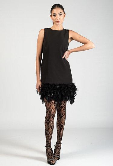 ALESSA- Feather Dress