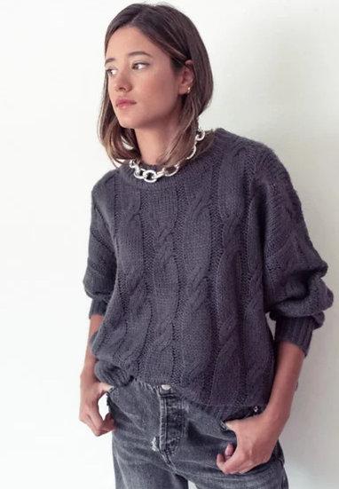 AMANDINE Grey Chunky Knit