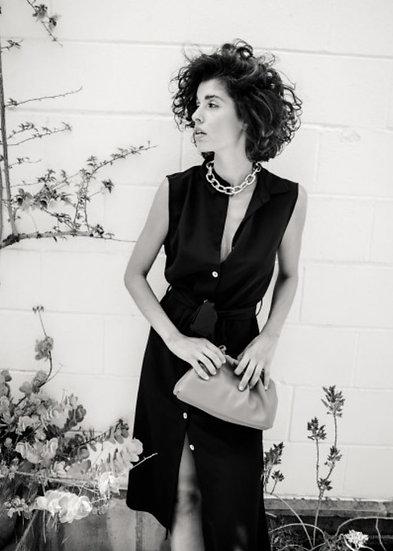 ELENA Dress Black or Dark Green