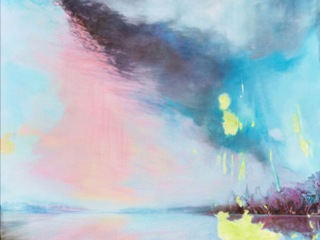 Malerei zwischen Wasser und Luft, Himmel und Erde. Ein Gemälde von Maria Sainz Rueda