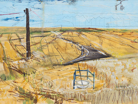 Über das spannungsvolle Feld der Malerei: Ein Gemälde von Mandy Kunze