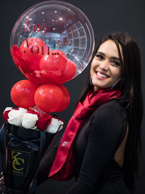 Love drop with balloon