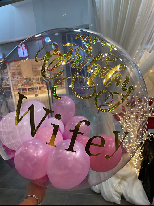 Personalised Glam Balloon Large