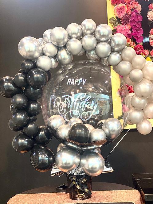 Happy birthday Balloon centerpiece