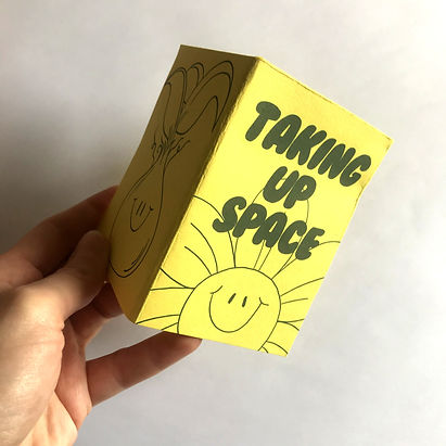 taking up space zine workshop