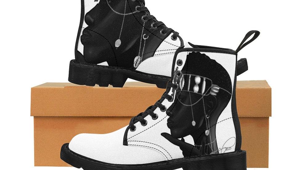 """""""black"""" Women's Canvas Boots"""