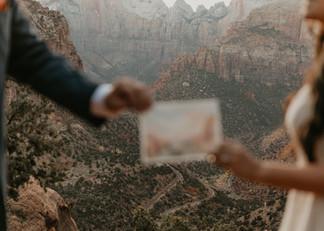 Gabby + David Zion National Park elopeme