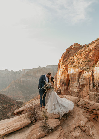 Gabby + David Zion National Park elopeme