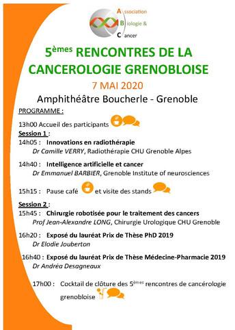 Le programme des Rencontres de la Cancérologie Grenobloise est en ligne !!