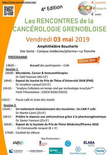 Assistez aux conférences sur la Cancérologie ! Entrée Libre et Gratuite ! 3 mai 2019