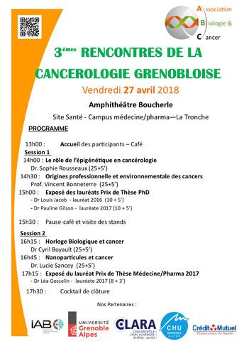 Le programme des Rencontres de la Cancérologie Grenobloise est en ligne !