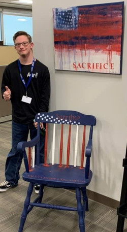 Sacrifice Chair 1 and canvas