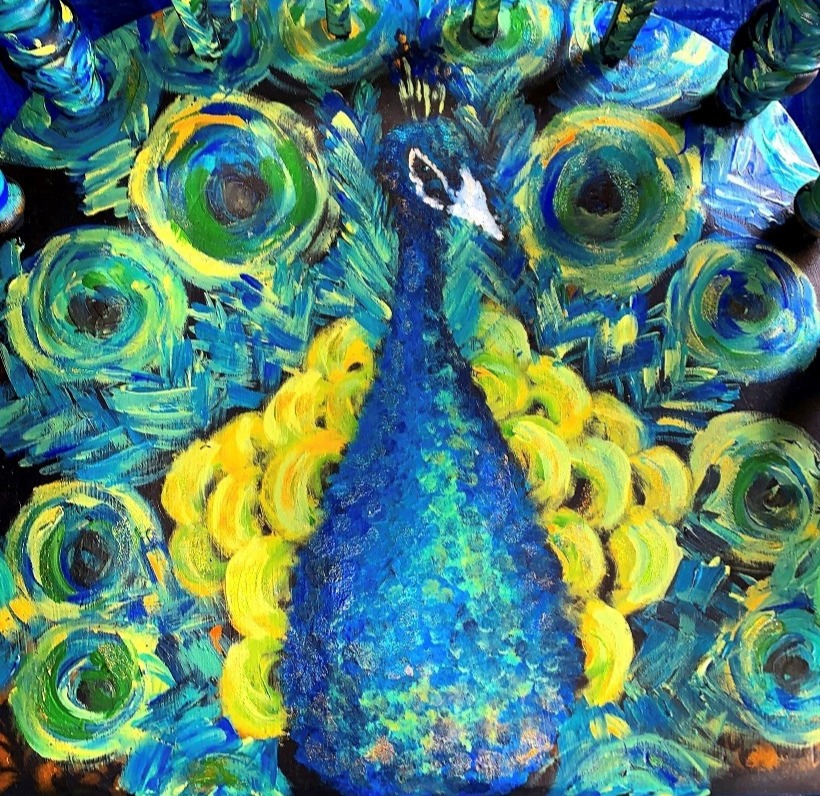 Peacock Chair up close