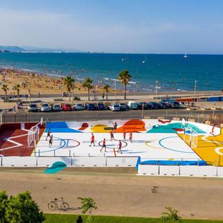 Futsal/basketball court