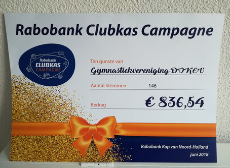 Uitslag Rabobank Clubkas Campagne 2018