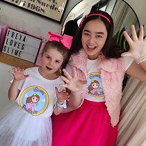 Slime Princess and a girl wear Slime Princess Merchandise