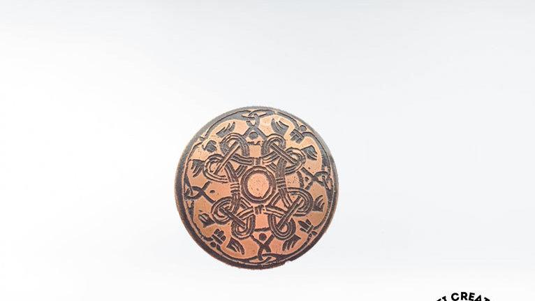 CELTIC Shield Brooch, Shield Pin