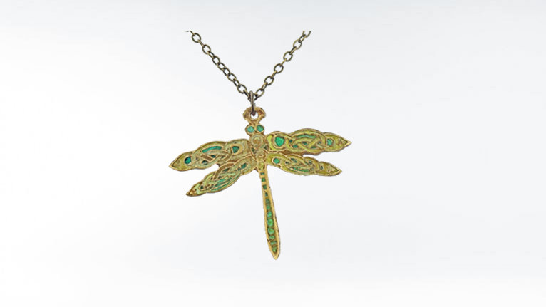 Celtic Dragonfly Necklace, Dragonfly Pendant