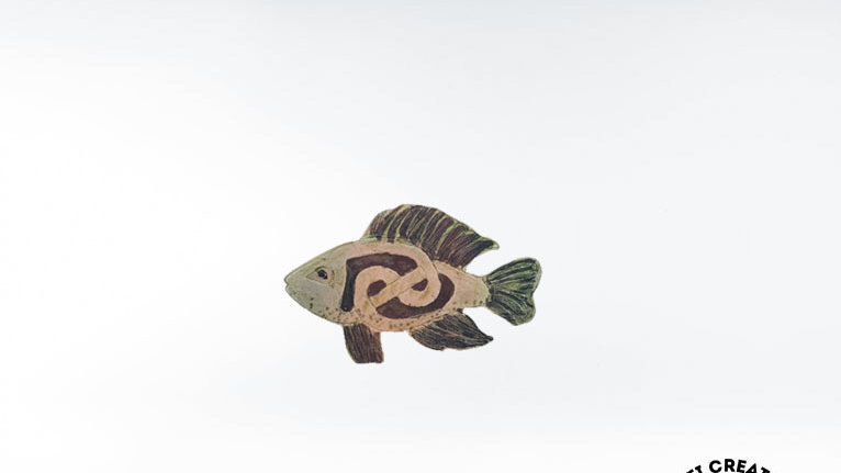 Celtic Fish Brooch, Salmon Brooch