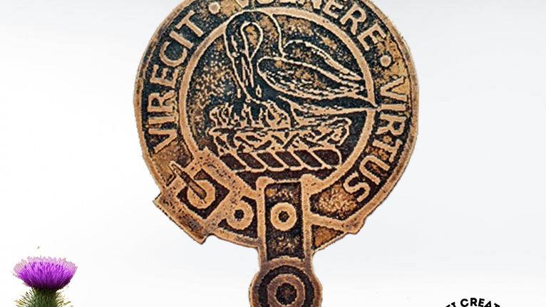 Clan Stewart Badge, Royal House of Stewart, Scottish Clan, Clan Stewart