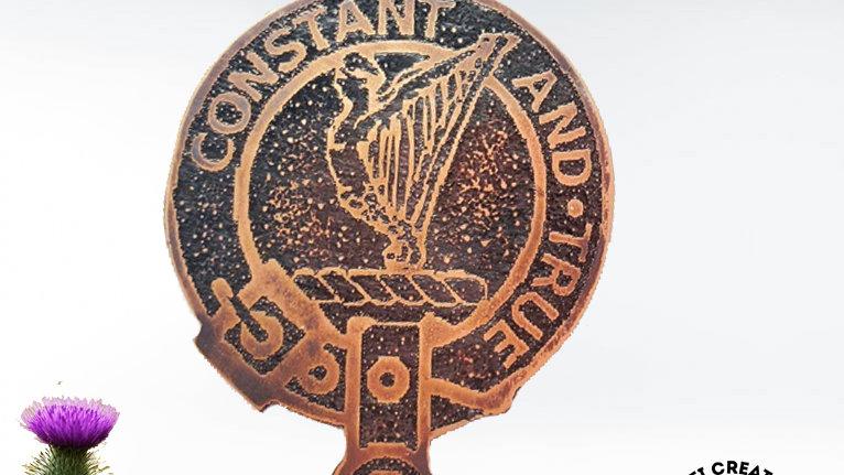 Clan Rose Badge, Scottish Clan, Highland Clan, Clan Rose