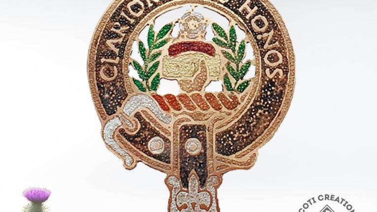 Clan Buchanan Badge, Scottish Clan Buchanan, Highland Clan, Handpainted